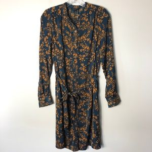 Banana Republic Factory Floral Long Sleeve Dress 8